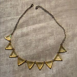 Yellow triangle statement necklace